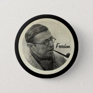 Jean-Paul Sartre 6 Cm Round Badge