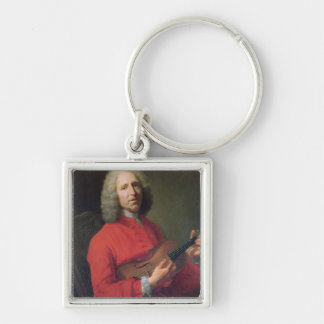 Jean-Philippe Rameau  with a Violin Silver-Colored Square Key Ring