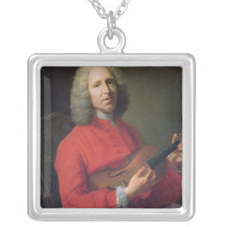 Jean-Philippe Rameau  with a Violin Silver Plated Necklace