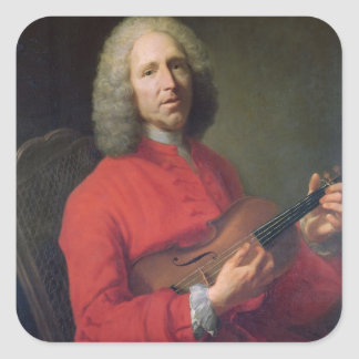 Jean-Philippe Rameau  with a Violin Square Sticker
