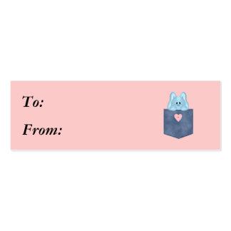 Jean Pocket Blue Bunny Rabbit Pack Of Skinny Business Cards