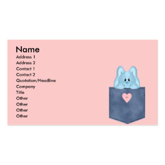 Jean Pocket Blue Bunny Rabbit Pack Of Standard Business Cards