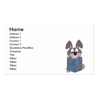 Jean Pocket Dust Bunny Business Card Template