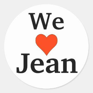 Jean Preston Classic Round Sticker