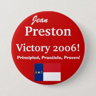 Jean Preston for N.C. Senate 7.5 Cm Round Badge