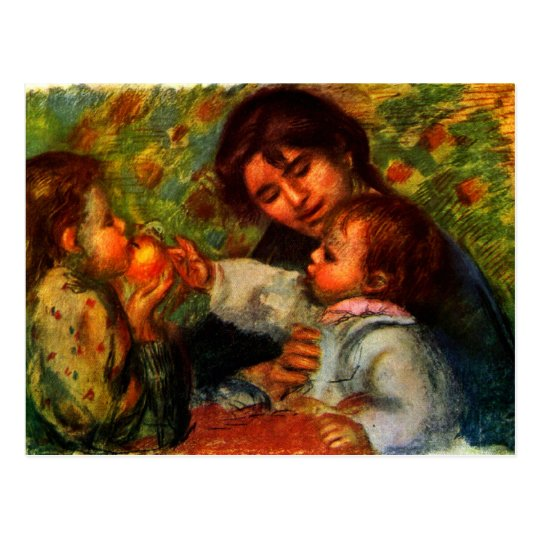 Jean Renoir and Gabrielle by Pierre Renoir Postcard