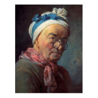 Jean Simeon Chardin- Self-Portrait with Spectacles Postcard