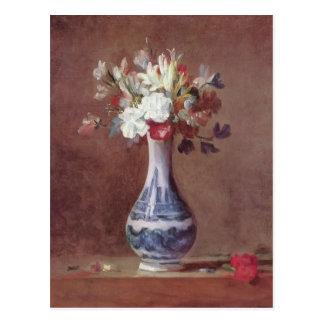 Jean Simeon Chardin- Still Life, Flowers in a Vase Postcard