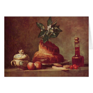 Jean-Simeon Chardin- Still life with Brioche Card