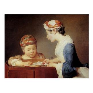 Jean-Simeon Chardin- The Young Schoolmistress Postcard