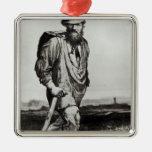 Jean Valjean Silver-Colored Square Decoration