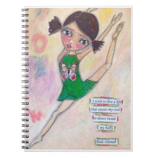 """Jeanette MacDonald Ballerina"" Journal Spiral Note Book"