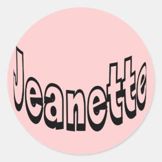 Jeanette Round Sticker