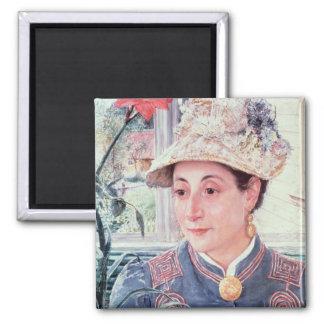 Jeanette Rubenson, 1883 Square Magnet