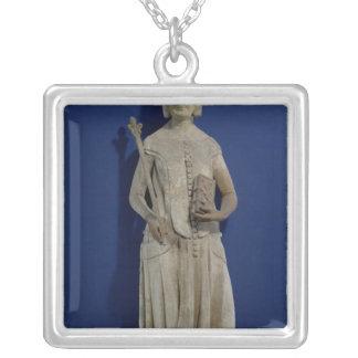 Jeanne de Bourbon  1365-80 Silver Plated Necklace
