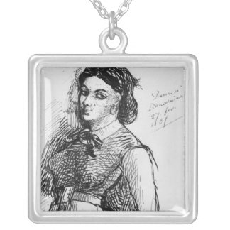 Jeanne Duval, 1865 Silver Plated Necklace