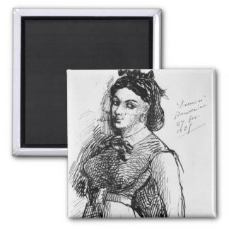 Jeanne Duval, 1865 Square Magnet