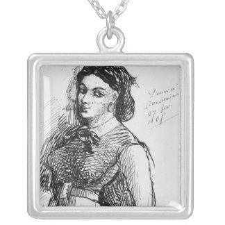 Jeanne Duval, 1865 Square Pendant Necklace