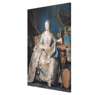 Jeanne Poisson  the Marquise de Pompadour, 1755 Canvas Print