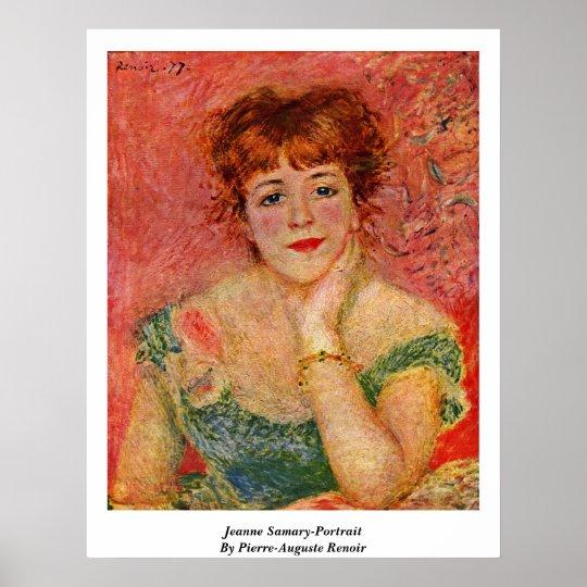 Jeanne Samary-Portrait By Pierre-Auguste Renoir Poster