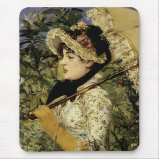 Jeanne: Spring 1881 by Manet Mouse Pad
