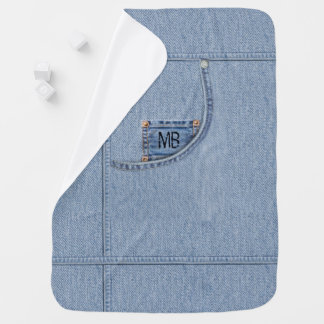 """""""Jeans"""" Blanket with or without Baby's Initials"""