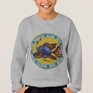 Jeans Fish :)  sparky funny cute comics fish badge Sweatshirt