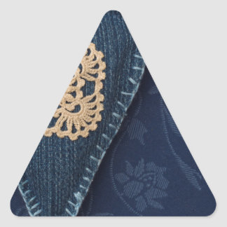 jeans heart triangle sticker