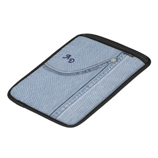 Jeans iPad Sleeve with Monogram