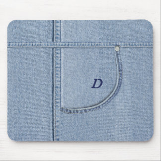 """""""Jeans"""" Mousepad with (or without) your Initial"""