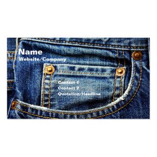 Jeans Pack Of Standard Business Cards