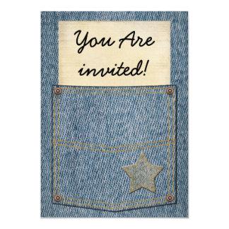 Jeans Pocket Party Invitations