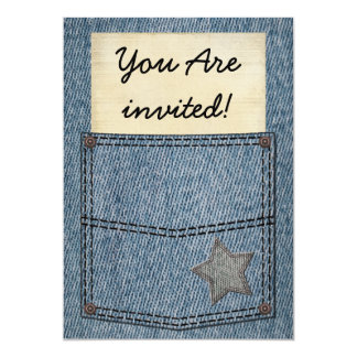 Jeans Pocket Party Invitations