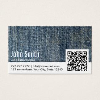 Jeans QR Code Apps developer Business Card