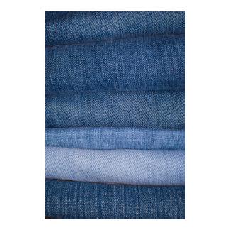 Jeans Texture Background Poster