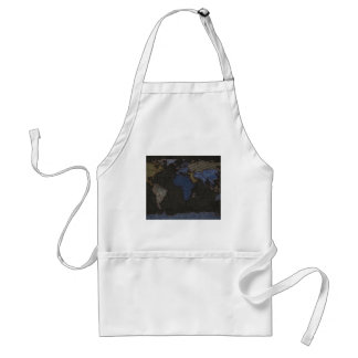 Jeans World Map (No labels) Aprons