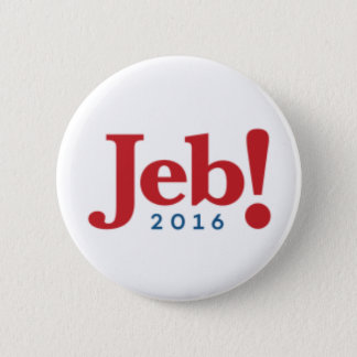 "Jeb Bush 2016 Campaign Button - 2.25"" Round"