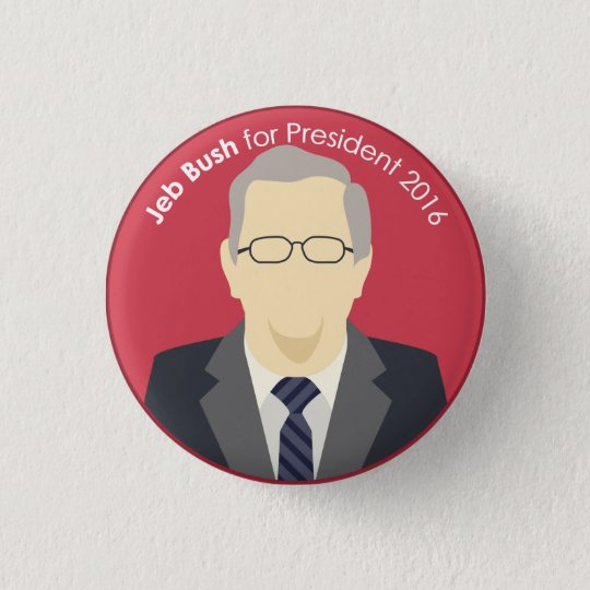 Jeb Bush 2016 for President Support Button