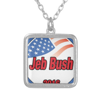 Jeb Bush for president on 2016 Square Pendant Necklace