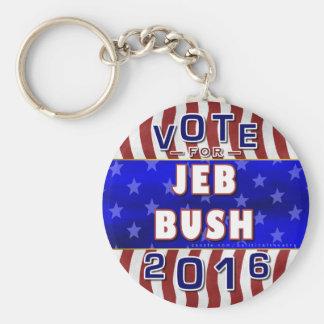 Jeb Bush President 2016 Election Republican Basic Round Button Key Ring