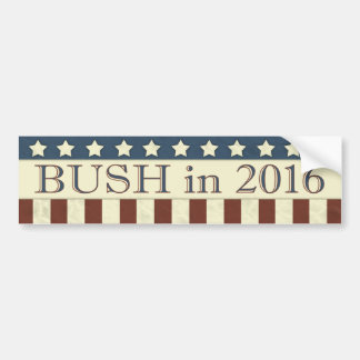 Jeb Bush President 2016 Stars Stripes Bumper Sticker