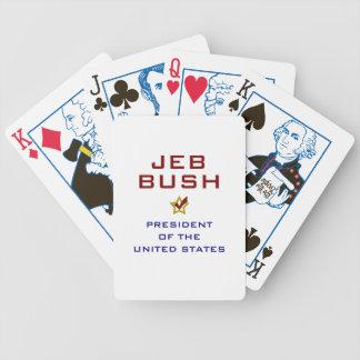 Jeb Bush President USA V2 Bicycle Playing Cards