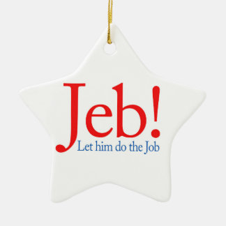 Jeb Bush Presidential Candidate 2016 Ceramic Star Decoration