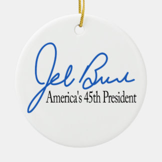 Jeb Bush Presidential Candidate 2016 Round Ceramic Decoration