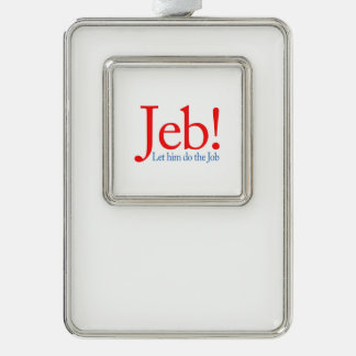 Jeb Bush Presidential Candidate 2016 Silver Plated Framed Ornament
