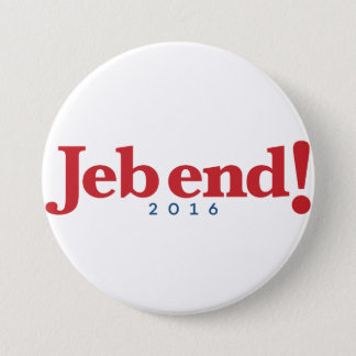Jeb end! 2016 7.5 cm round badge