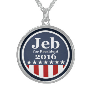 Jeb for President 2016 Round Pendant Necklace