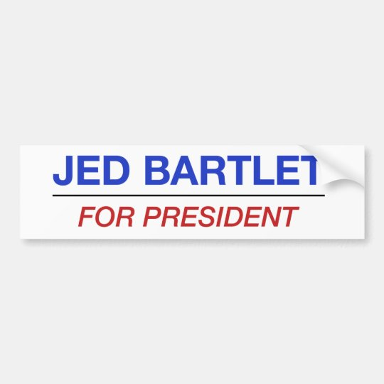 JED BARTLET for president bumper sticker