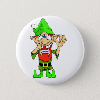 Jed the Twisted Elf 6 Cm Round Badge