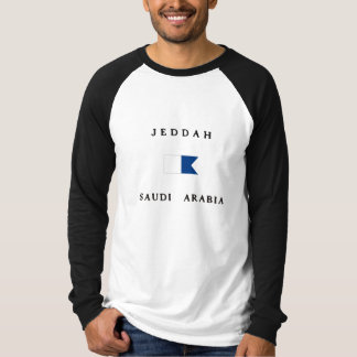 Jeddah Saudi Arabia Alpha Dive Flag T-Shirt